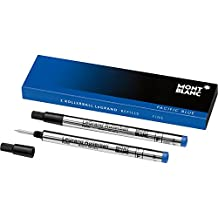 Montblanc LeGRAND pack of 2 Rollerball Refills Pacific Blue F (fine)