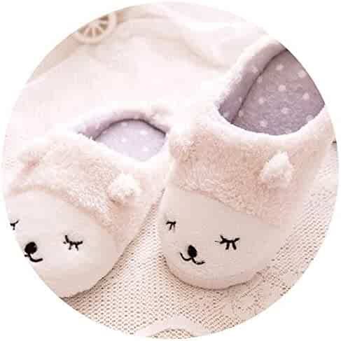 7f7552d27f1 Spring Winter Couples Home Animal Slippers Women Indoor Floor Sherpa Soft  Bottom Squinting Sheep Slip