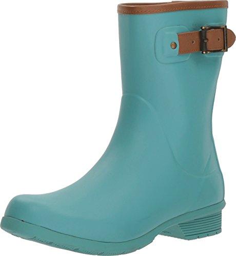 Chooka Women's City Solid Mid Rain Boots Aqua 9 M US ()
