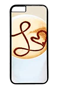 Caramel Latte iPhone 6 Cases (4.7 inch) Cover For PC Black