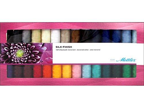 Metrosene GiftSet28pc Mettler Silk Finish Cotton Gift Set 28pc, Assorted