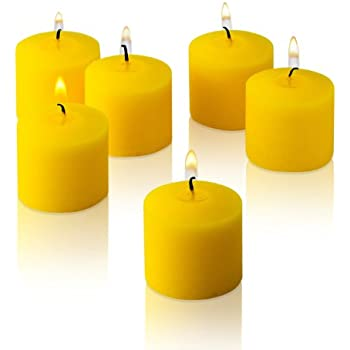 10 Hour Citronella Yellow Votive Candles Set of 36 Made in USA
