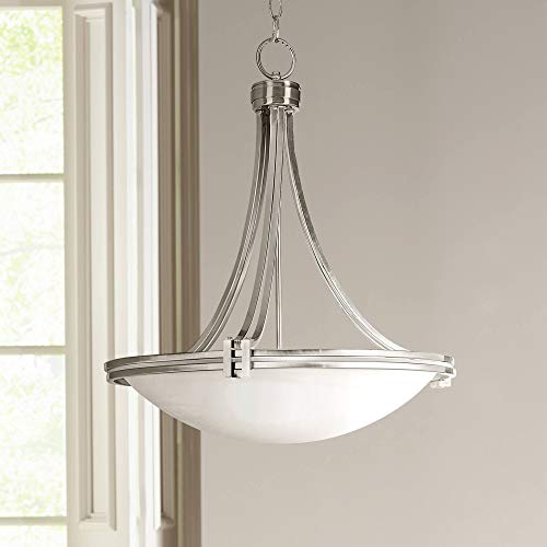 Deco Brushed Nickel Pendant Light 21 1/2