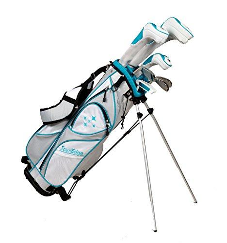 Tour Edge LUSRGL07.BT Women's 2014 Lady Edge Golf Starter Set, Flex, Right Hand, Graphite, Teal (Tour Edge Golf Club Set)