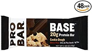 product image for PROBAR - Base 2.46 Oz Protein Bar, Cookie Dough - Gluten-Free, Plant-Based Whole Food Ingredients - Pack of 48
