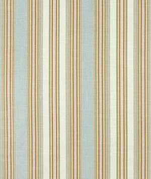 (Waverly Stripe Ensemble Robins Egg Fabric - by the Yard)