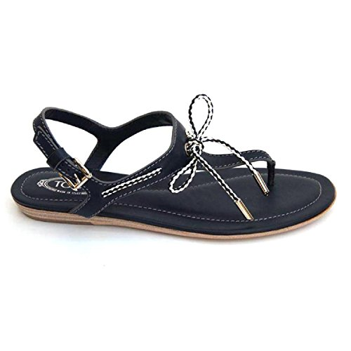 Tods Dames Platte Sandaal Xxw0ii0a250br09975 Donkerblauw