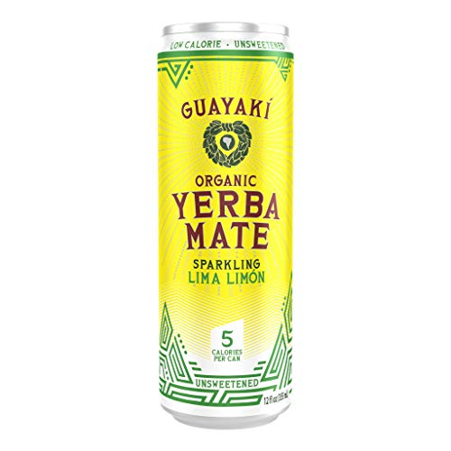 Guayaki Yerba Mate Sparkling Lima Limòn, 12-Ounce Can (Pack of 12) ()