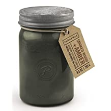 Relish Collection Soy Wax Jar Candle, Gray, 9.5-Ounce, Smoked Amber & Wood