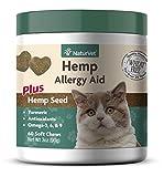 NaturVet – Hemp Allergy Aid For Cats - Plus Hemp Seed - 60 Soft Chews | Helps Maintain Proper Skin Moisture & Respiratory Health | Enhanced with Antioxidants, Omegas, DHA, EPA & Hemp Seeds