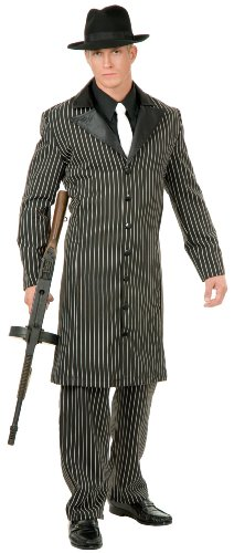 Charades Men's Gangster Costume Coat, As Shown, (Gangster Costumes For Couples)