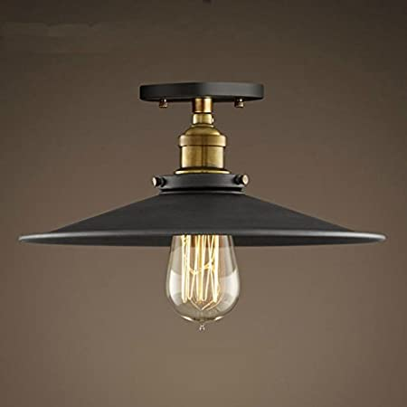Hahaemall lighting industrial edison semi flush mount mini vintage hahaemall lighting industrial edison semi flush mount mini vintage ceiling light bulb not included mozeypictures Images