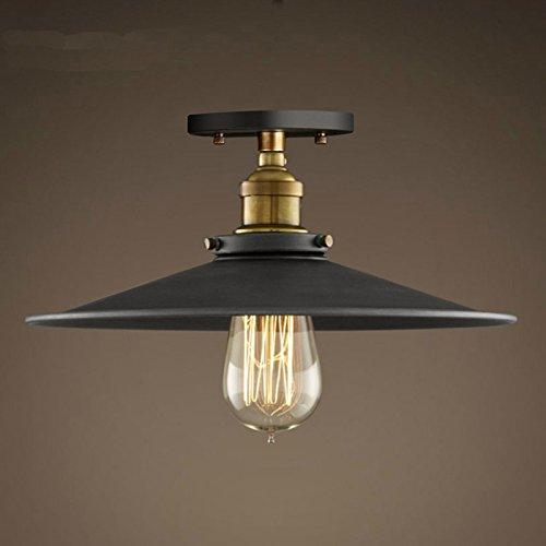 vintage ceiling lighting. Hahaemall Lighting Industrial Edison Semi Flush Mount Mini Vintage Ceiling Light (Bulb Not Included): Amazon.co.uk: I