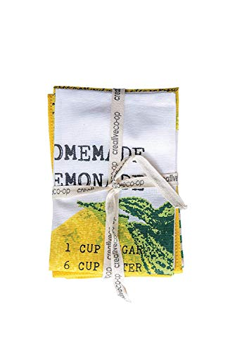 (Creative Co-op Homemade Lemonade Recipe Cotton Tea Towels - Set of 3)