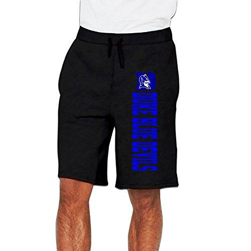 Men's Duke Blue Devils Cotton Short Sweat Pant Black US Size (Notre Dame Irish Workout Pants)