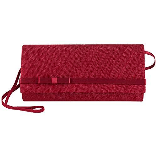 Sinamay Clutch Bag Seeberger Sacs à bandoulière pour femmes en paille rouge foncé