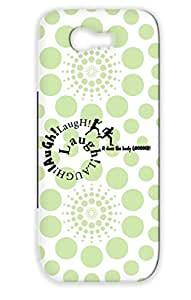 TPU Black For Sumsang Galaxy Note 2 Funny Quotations Laughter Laughing Health Humor Funny Laughter1c Cover Case