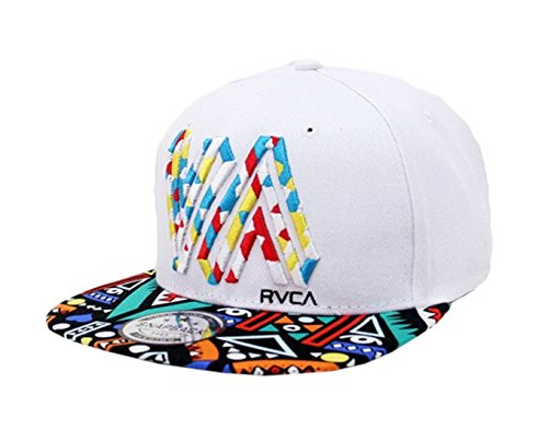 tc baseball hat fashion print panel street dancing cap white