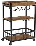 """Linon Austin Kitchen Cart, 30.5""""W x 18.13""""D x"""