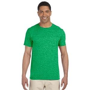 Gildan Men's Softstyle Ringspun T-shirt - 3X-Large - Heather Irish Green