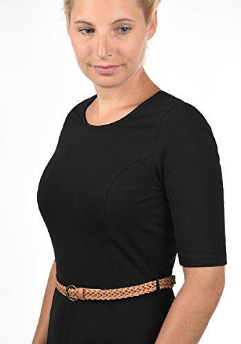 Abito Girocollo Scarlet Da Vero Jersey Vestito Moda In Con Black Maglina Donna HRw5TIvw