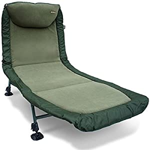NGT Carp Fishing Classic Bedchair with Recliner – Micro Fleece Fabric New