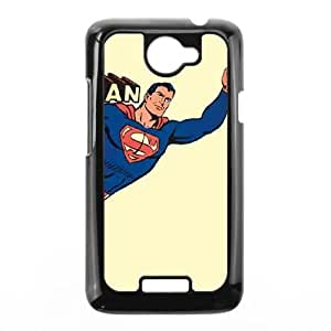 Superman Vintage Yellow HTC One X Cell Phone Case Black DIY TOY xxy002_840037