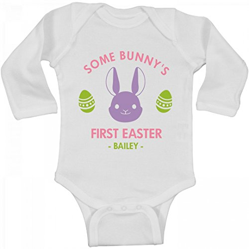 Bailey Boys Bunny (FUNNYSHIRTS.ORG Some Bunny's First Easter Bailey: Infant Long Sleeve Bodysuit)