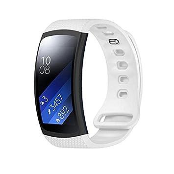 Bracelet pour montre connectée Samsung Gear Fit II, bracelet de sport en silicone