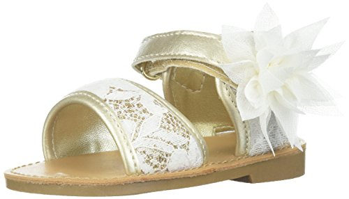 Baby Deer Girls' 01-6391 Sandal, Ivory, 8 Child US Toddler