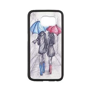 HQYDIY Custom umbrella Plastic Case, DIY umbrella Hard Cell Phone Case for samsung galaxy s6