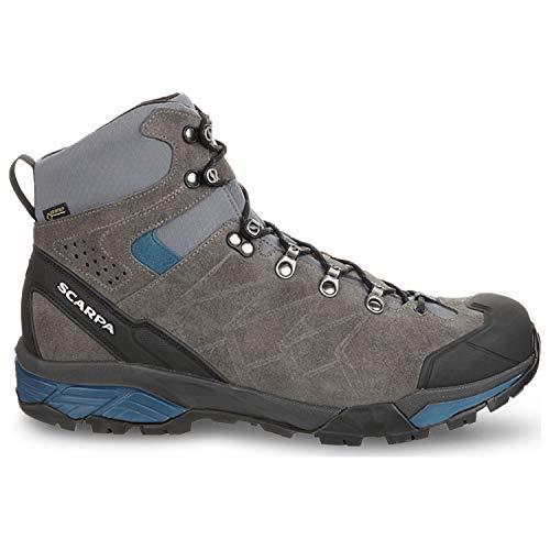 (SCARPA Men's ZG Trek GTX Backpacking Boot Titanium/Lake Blue -)