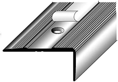 for/é aluminium anodis/é couleur: argent 27 mm x 58 mm Nez de marche // Corni/ère pour escaliers