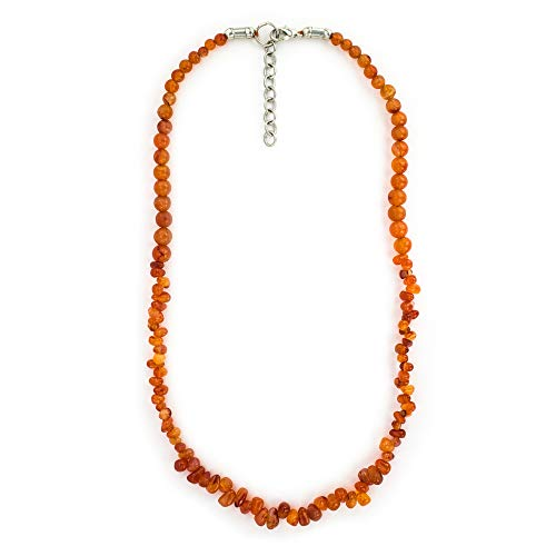 Mystic Self Carnelian Necklace - Crystals and Healing Stones Indian Jewelry for Women - Genuine Orange Gemstone Beads - Gifts for Women ()