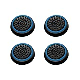 Insten [2 Pair / 4 Pcs] Silicone Analog Thumb Grip Stick Cover, Game Remote Joystick Cap for PS4 Dualshock 4/ PS3 Dualshock 3/ PS2 Dualshock/ Xbox One Wireless/ Xbox 360 Controllers, Black/Blue