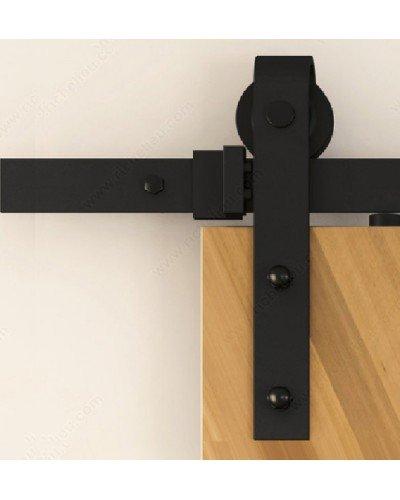 Bline 6.6 Ft Sliding Barn Door Hardware Black Antique.( Handles / Latch  Included )