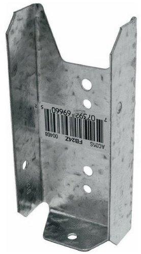 Simpson Strong Tie FB24Z ZMAX Galvanized 20-Gauge 2x4 Fence Bracket 100-per box (Wood Fence Brackets)