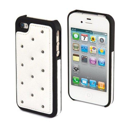 Muvit Club Back Schutzhülle für Apple iPhone 4S/4 schwarz/weiß