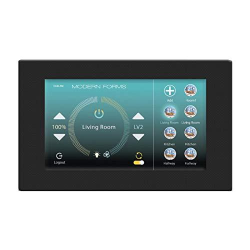Modern Forms F-TS-BK WiFi Touch Panel Wall Black Fan -