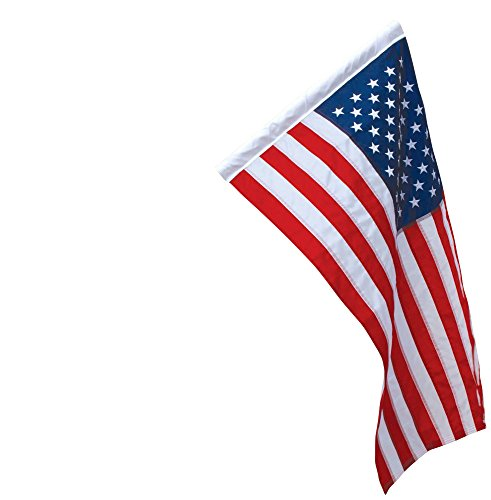 Banner Sleeved American Flag 2.5×4 Ft Nylon Presidential Series Sewn 2-1/2'x4′ US Flag 30x48in