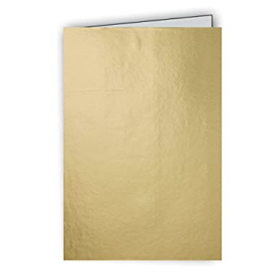 Jillson Roberts Bulk 100-Count Gift Enclosure Cards with Envelopes, Gold Foil (BEC915)