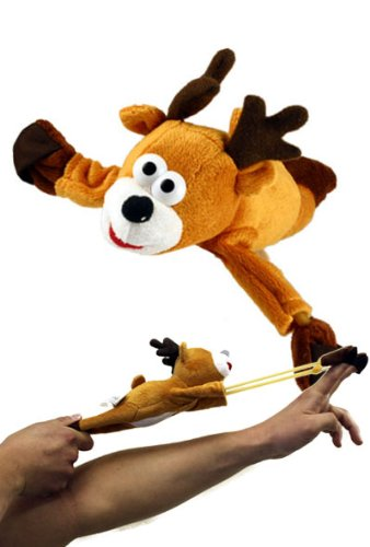 Holiday Slingshots - Flying Whooping Reindeer by Playmaker Toys