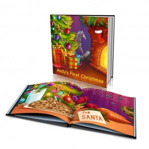 Personalized Story Book by Dinkleboo -First Christmas - For Kids Aged 0 to 8 Years Old - A Story About Your Child's First Christmas - Smooth Satin Paper - Soft Cover (8