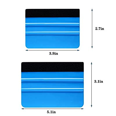 Blulu 10 Pieces Felt Edge Squeegee Car Wrapping Tools, 4 Inch and 5 Inch Vinyl Scraper Decal Applicator Tool for Car Vinyl Wrap, Window Tint, Wallpaper Installation: Automotive