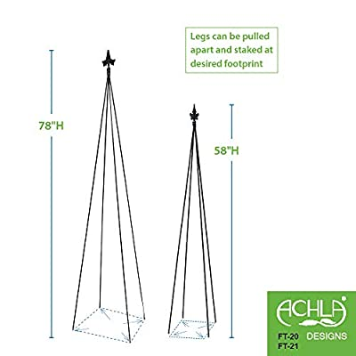 Achla Designs Fleur-De-Lis GardenTrellis, 58-in