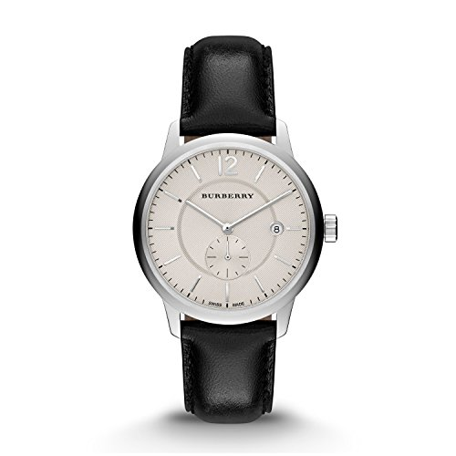 Burberry-Classic-Round-Beige-Dial-Black-Leather-Mens-Watch-BU10000