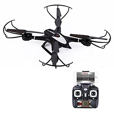 LandFox MJX X401H Wifi FPV 0.3MP HD Camera RC Drone w/ Dual Mode Altitude Hold RTF,Black from LandFox