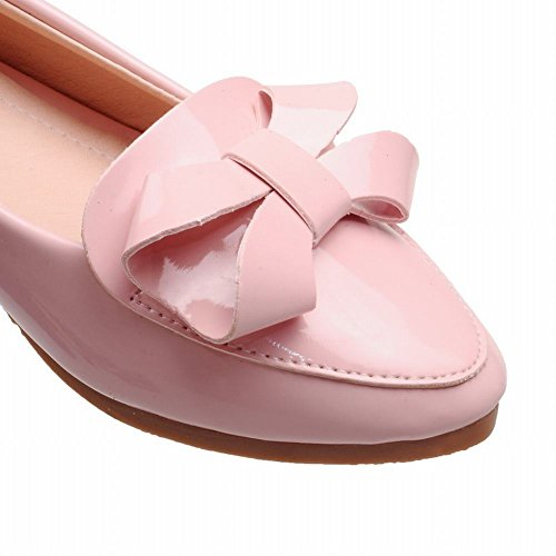 Show Shine Womens Chic Sweet Bows Low Heel Wedges Shoes Pink u0NswY