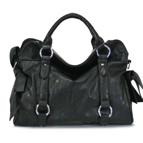 Close-Out Celebrity Style Handbag Purses 120536 Black