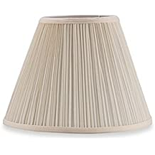 Upgradelights Pleated Eggshell Empire Clip On Lampshade Replacement